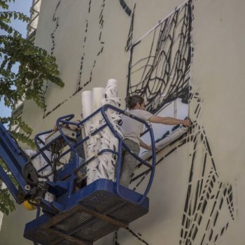 8 juin 2017 Fresque en cours  Photo : Andrea Berlese