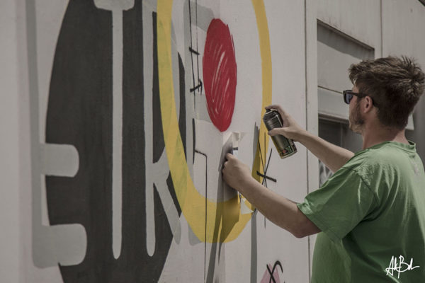 9 juin 2017 Fresque en cours de JC THE BLIND Photo : Andrea Berlese
