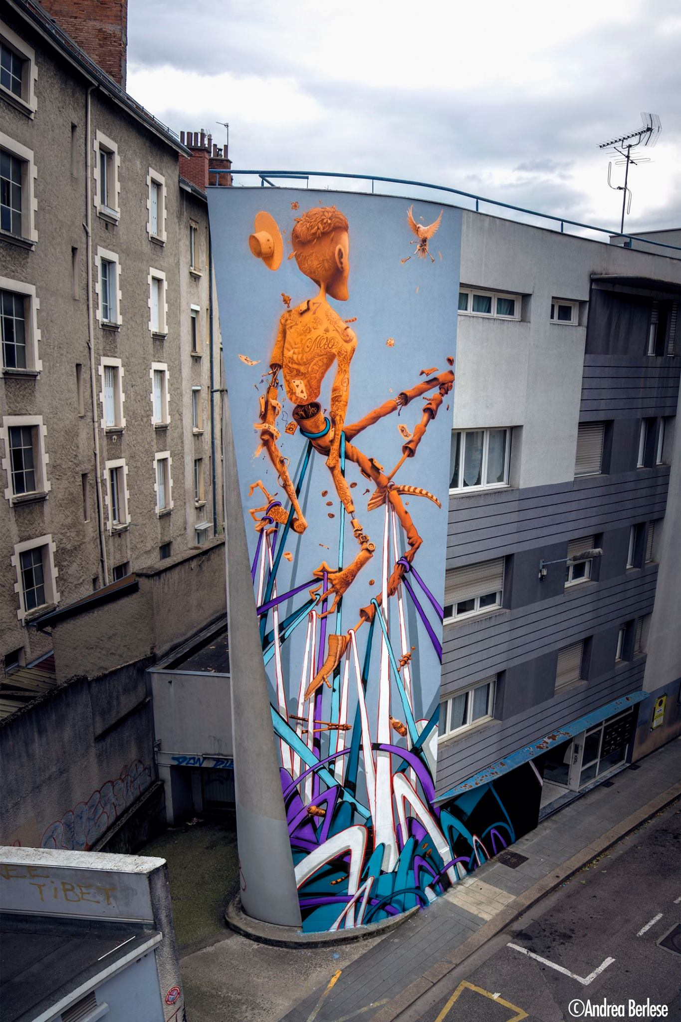 12 Rue Des Bains Maye U0026 Momies Grenoble Street Art