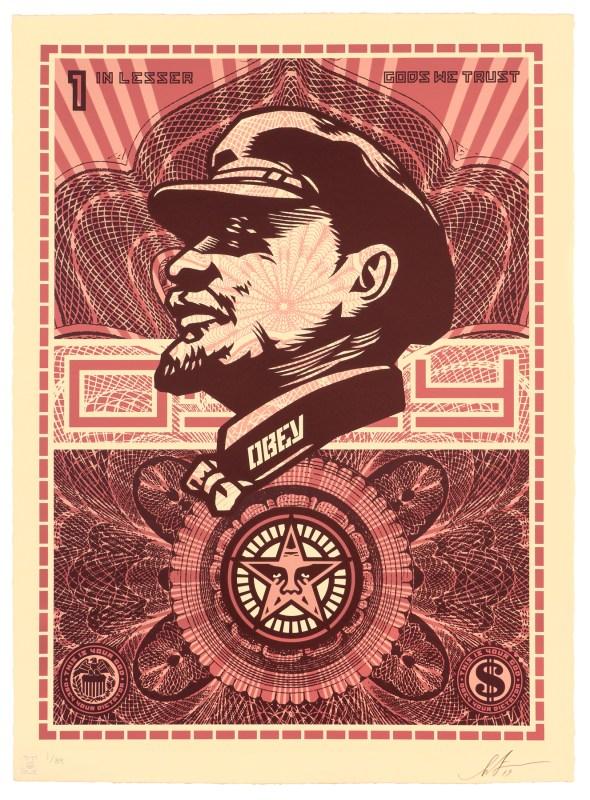 Lenin lesser gods we trust   Shepard Fairey