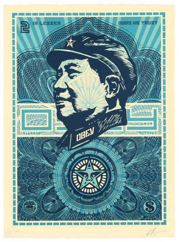 Mao lesser gods we trust   Shepard Fairey